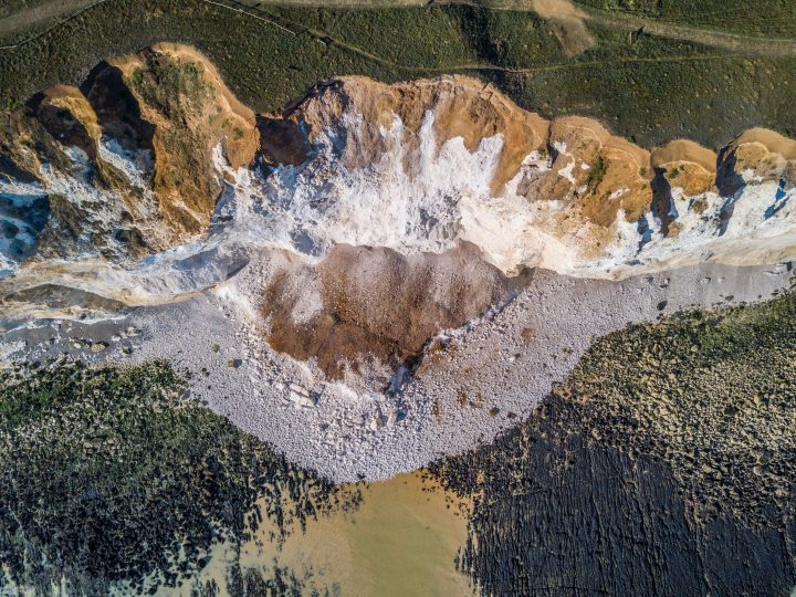 Seaford Head Cliff Collapse mid June 2017